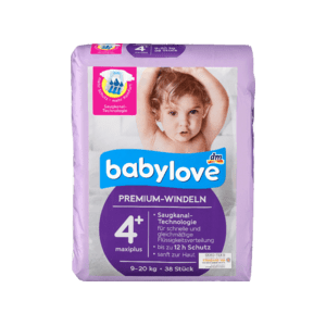 Подгузники Babylove Aktiv Plus MaxiPlus 4+ (9-20кг), 38шт