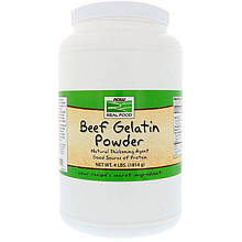 "Говяжий желатин NOW Foods, Real Food ""Beef Gelatin Powder"" в порошке (1814 г)"
