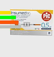Шприц Инсумед - Insumed для інсулін U-100 0,5 мл*8мм, 31G (30 шт. в упаковці)