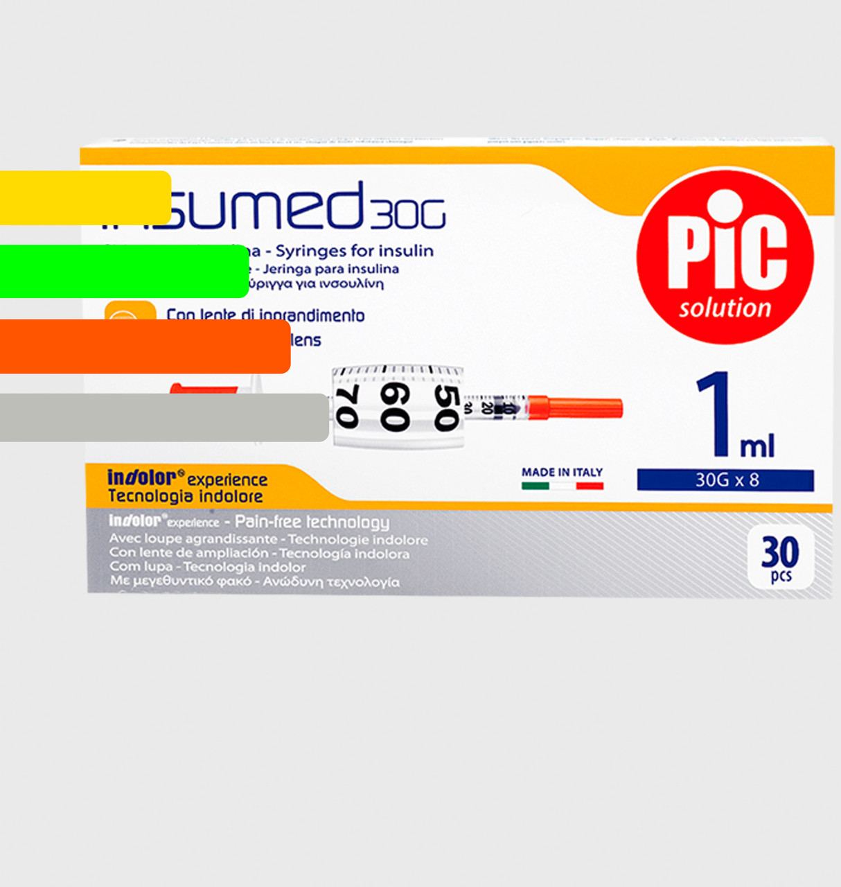 Шприц Insumed для инсулина U-100 1мл*8мм, 30G (30 шт. в упаковке)