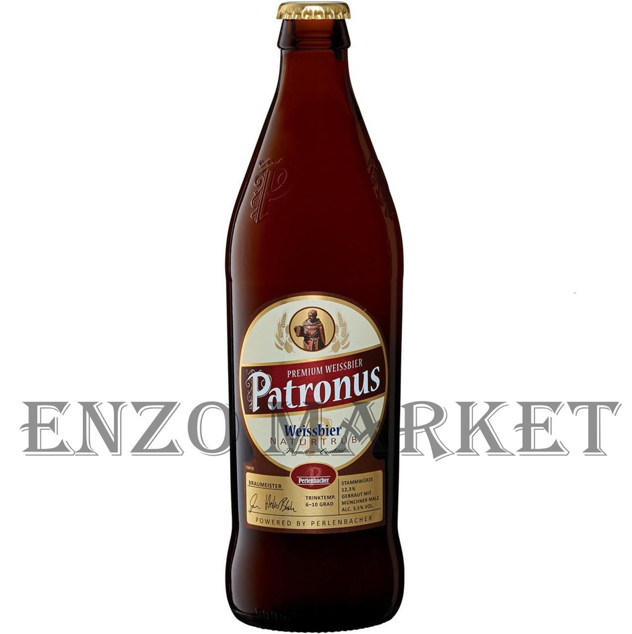 Пиво Patronus  Нefe Weizen hell, 0,5 литра
