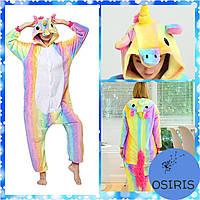 Пижама Кигуруми Единорог Радужный для подростка размер S (на рост 145-155)
