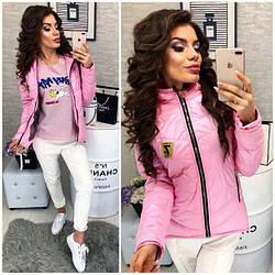 Куртка парка весна/осень 2018, модель 210/7, цвет - розовая
