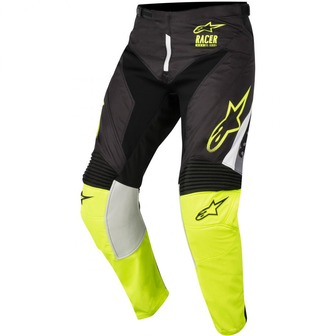 "Брюки Alpinestars Racer Supermatic текстиль черно-желтые ""M"" (32)"