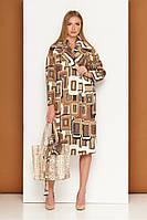 Модное пальто женское демисезонное свободного кроя Р-35/4, фото 1