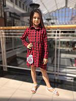 Модная Школьная форма для девочки. Стильное школьное платье в клетку. MONE