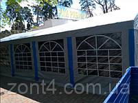Шатер 5х10 ПВХ с мощным каркасом палатка намет павильон садовый серый с окнами, фото 6