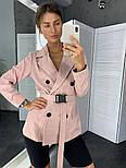 Женский стильный пиджак в полоску с поясом (в расцветках), фото 2