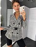 Женский стильный пиджак в полоску с поясом (в расцветках), фото 4