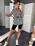 Женский стильный пиджак в полоску с поясом (в расцветках), фото 5
