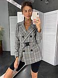Женский стильный пиджак в полоску с поясом (в расцветках), фото 6