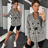 Женский стильный пиджак в полоску с поясом (в расцветках), фото 8