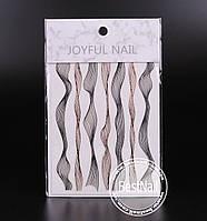 Ленты для дизайна ногтей ( черная, бронза )