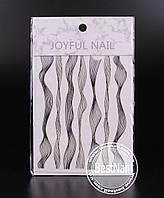 Ленты для дизайна ногтей ( черная, серебро )