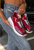 Жіночі кросівки Versace Cross Chainer Sneakers, Репліка, фото 1