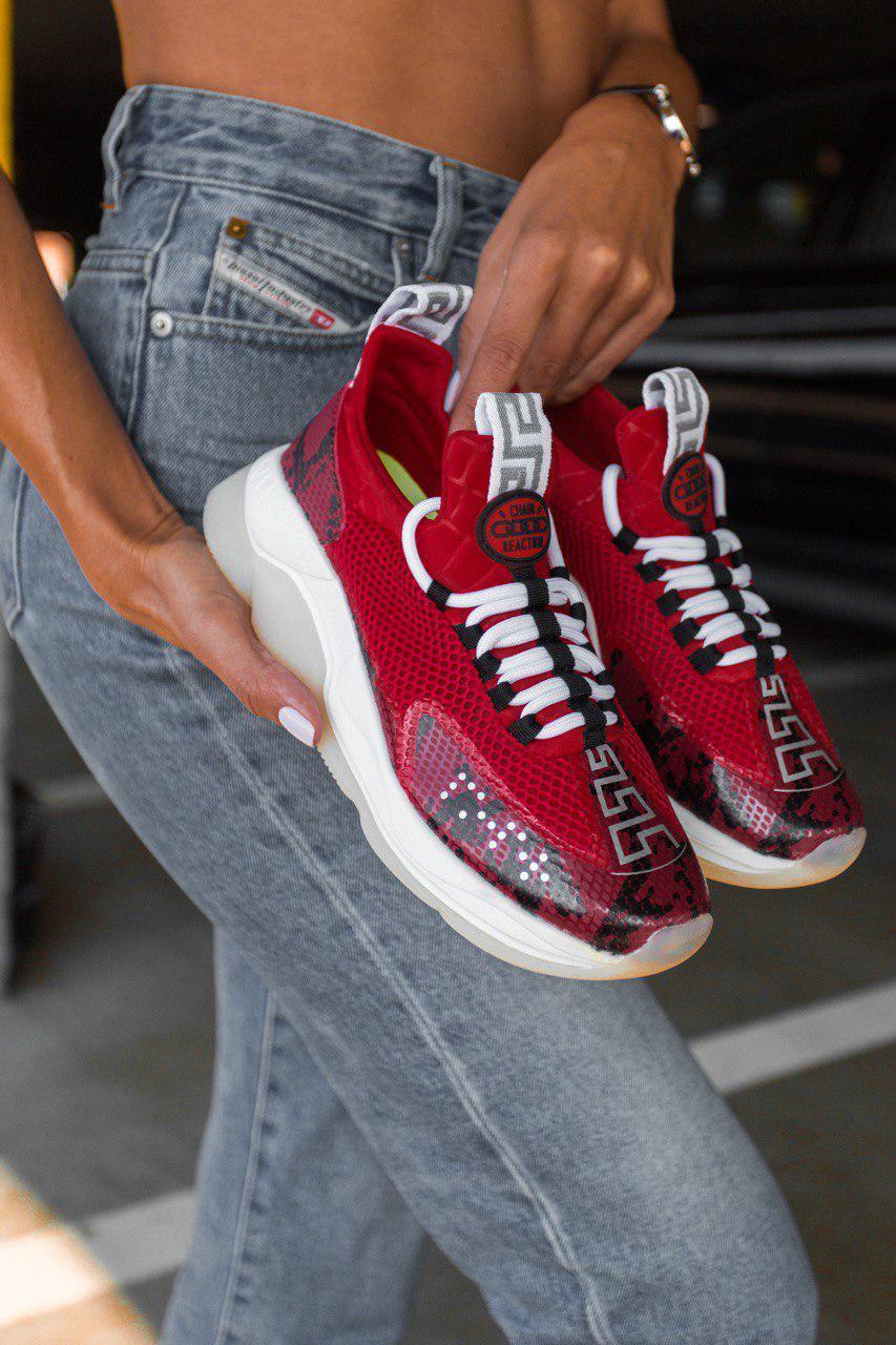 Жіночі кросівки Versace Cross Chainer Sneakers, Репліка