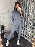 Женский замшевый брючный костюм: толстовка и брюки (в расцветках), фото 6