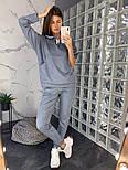 Женский замшевый брючный костюм: толстовка и брюки (в расцветках), фото 7