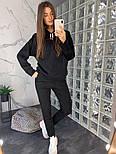 Женский замшевый брючный костюм: толстовка и брюки (в расцветках), фото 9