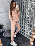 Женский замшевый брючный костюм: толстовка и брюки (в расцветках), фото 5