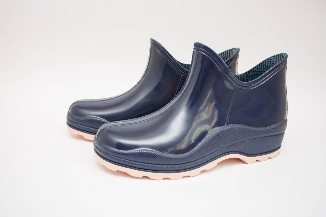 Женские силиконовые сапоги  (Код: Стиль - синие )