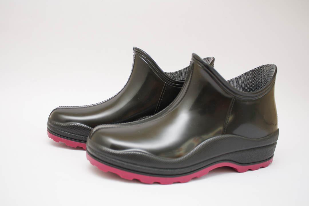 Женские силиконовые сапоги  (Код: Стиль - черный )