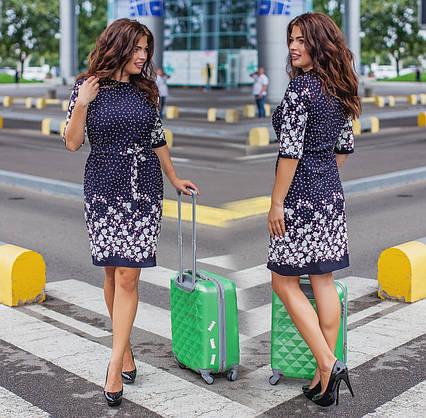 """Элегантное женское платье в больших размерах 458 """"Отто Купон Орнамент"""" в расцветках"""