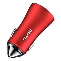 Автомобильное зарядное устройство Baseus Golden BSC-C6 Car Charger 2 USB Red