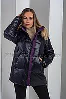 Короткий зимний пуховик в спортивном стиле чёрного цвета Towmy 3268, фото 1