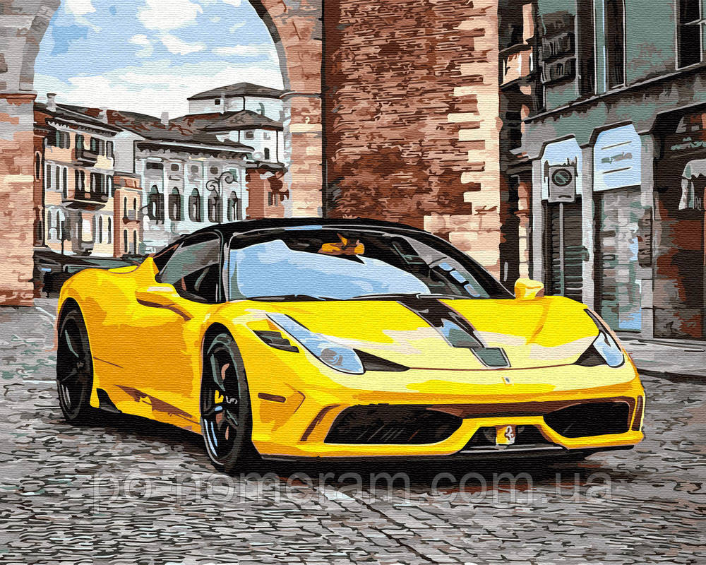 Раскраска по цифрам Желтое авто (BRM27259) 40 х 50 см ...
