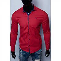 Рубашка мужская Paul Smith 15761 с регулировкой рукава красная реплика