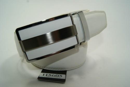 Ремень мужской кожаный с пряжкой автомат (Белый) ALON