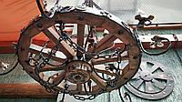 Люстра из колеса телеги