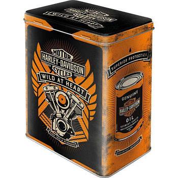 Коробка для хранения Nostalgic-Art Harley-Davidson Wild at Heart  L (30141)