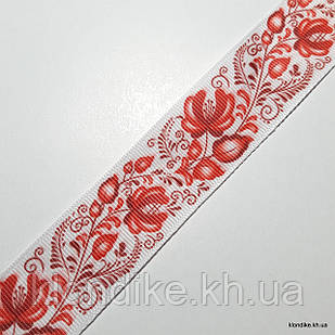 Лента с рисунком, репсовая, ширина:  2.5 см