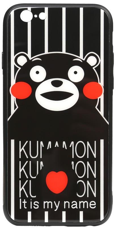 Чехол-накладка TOTO Cartoon Print Glass Case Apple iPhone 6/6s Kumamon #I/S