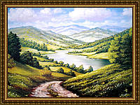 Репродукція картини Дорога до озера 400х600мм(в рамі) №368