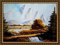 Репродукція картини Місток в Альпах 400х600мм (в рамі) №339