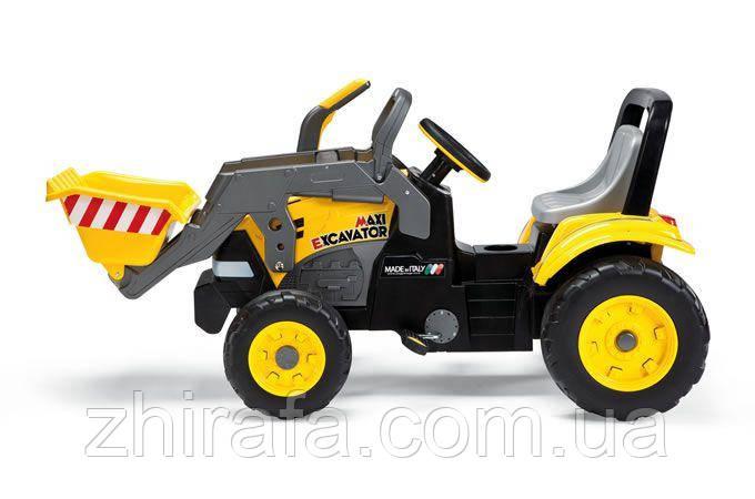 Педальный экскаватор трактор  MAXI EXCAVATOR, PEG-PEREGO (CD 0552)