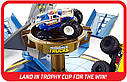 Трек Хот Вилс Опасное противостояние Hot Wheels Monster Trucks Mecha Shark Face-off Playset, фото 6