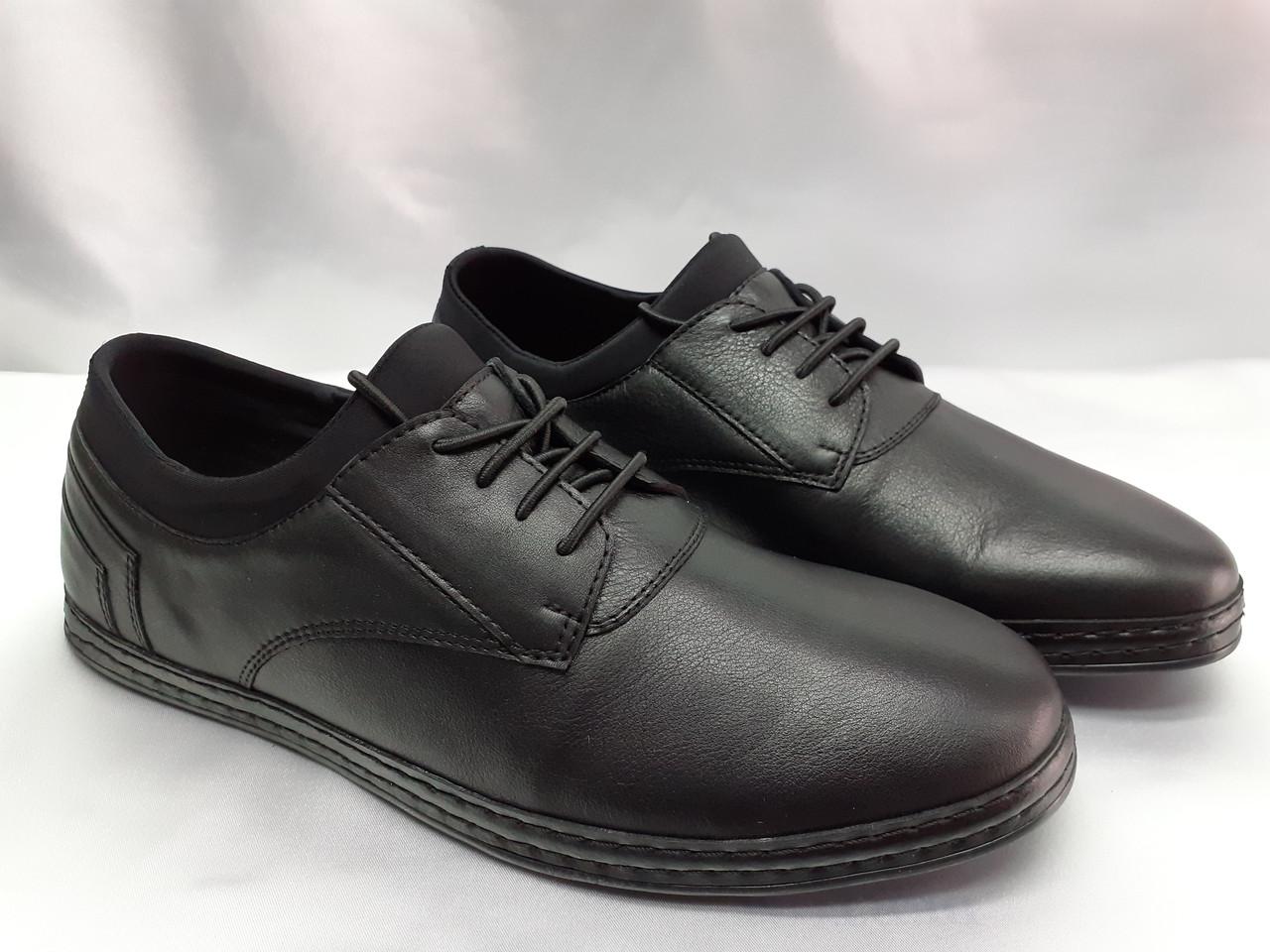 Весенние кожаные мокасины на шнурках Rondo