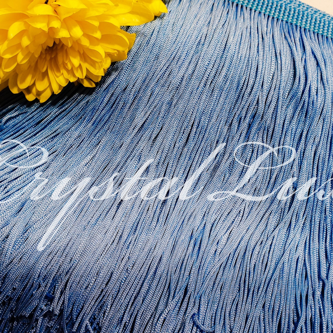 Бахрома 20см Sky blue 1м