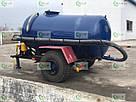 Ассенизаторская прицепная бочка для внесения жидкого навоза (воды), транспортировки отходов объёмом 4 куба, фото 3
