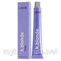Тонер перламутрового оттенка для волос Lakme K.blonde toner pearl  60 мл