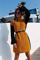 """Платье-туника женское вязаное под горло, размер 42-46 (4цв) """"MARGARET"""" недорого от прямого поставщик"""