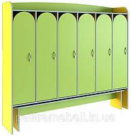 Шкафчики для раздевалки, с выдвижной лавкой, фото 1