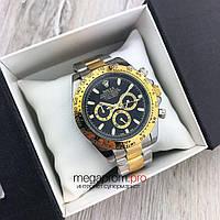 Мужские механические часы Rolex Daytona Cosmograph 42 mm золото-серебро с черным циферблатом(08154) копия