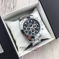 Мужские механические часы Rolex Daytona Cosmograph 42 mm сталь с черным циферблатом (08157) копия