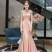 Вечерние Выпускное розовое платье. Вечірня сукня рожева. Расшитое вечерние платье ручной работы
