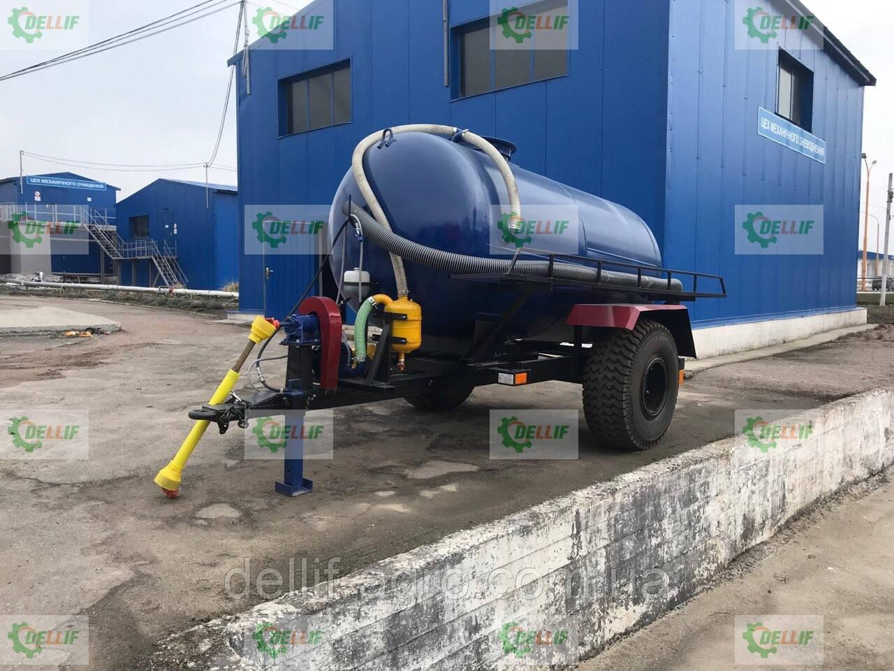 Ассенизаторская прицепная бочка для внесения жидкого навоза (воды), транспортировки отходов объёмом  10 кубов